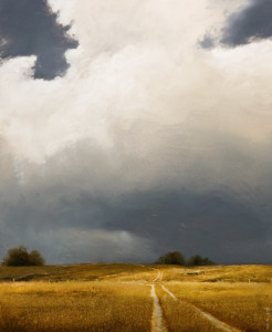"SOLD ""Shadowlands II (Study),"" by Renato Muccillo 9 x 11 - oil on mounted panel $1730 in show frame"