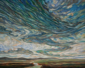 "SOLD ""Sky Wave,"" by Steve Coffey 24 x 30 – oil $2160 Unframed"