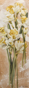 """Spring Graces,"" by Linda Thompson 12 x 36 - acrylic $1150 Unframed"