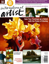 Ray Ward Grand Prize International Artist Magazine's landscape competition Spring 2012 Cover