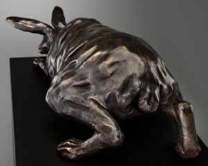 """Wary Wabbit,"" by Nicola Prinsen 28"" (L) x 7"" (H) - bronze Edition of 5 $5800"