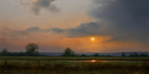 "SOLD ""Woolridge Field I,"" by Renato Muccillo 5 x 10 - oil on mounted panel $1370 in show frame"