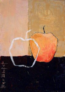 "SOLD ""Apples,"" by Bev Binfet 5 x 7 – acrylic $225 Unframed"