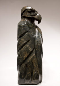 "SOLD ""Blanket of Feathers,"" by Marilyn Armitage Brazilian soapstone – 20 1/2"" (H) $2100"