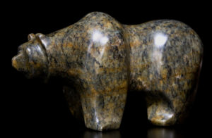 """SOLD """"Bold Move,"""" by Marilyn Armitage Brazilian Soapstone 12 1/2"""" (L) x 6"""" (H) $700"""