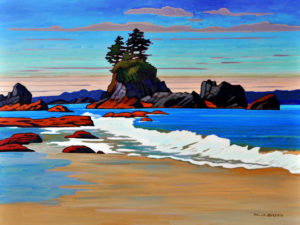 "SOLD ""Brady's Beach Crescendo,"" by Nicholas Bott 30 x 40 – oil $5500 (thick canvas wrap without frame)"
