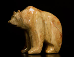 "SOLD ""Brown Sugar,"" by Marilyn Armitage Pyrophyllite (wonderstone) 6 3/4"" (H) $800"