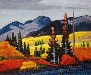 "SOLD ""Bulkley Valley (Smithers),"" by Nicholas Bott 10 x 12 – oil $1370 Framed"