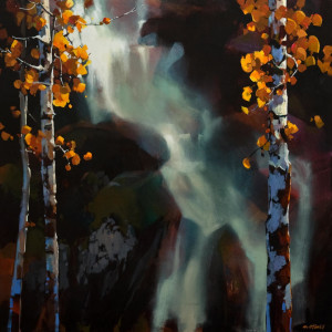 "SOLD ""Falling Soft and Gently Into Autumn,"" by Michael O'Toole 36 x 36 – acrylic $4925 Unframed"