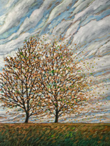 "SOLD ""Fall Together,"" by Steve Coffey 36 x 48 – oil $3360 Unframed"