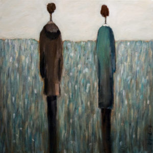 "SOLD ""Finding Our Way,"" by Bev Binfet 20 x 20 – mixed media $820 Unframed"