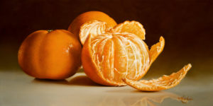"SOLD ""For the Taking,"" by Mickie Acierno 12 x 24 – oil $1750 Unframed"