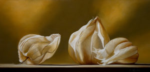 "SOLD ""Ghost Riders,"" by Mickie Acierno 15 x 30 – oil $2475 Unframed"