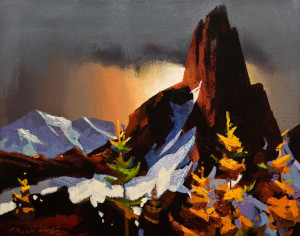 "SOLD ""Light Play Around Black Tusk,"" by Michael O'Toole 11 x 14 – acrylic $935 Unframed"