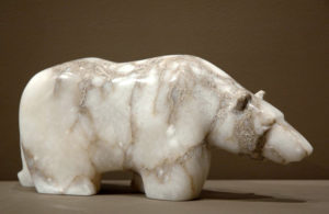 """SOLD """"Muddy Waters,"""" by Marilyn Armitage Italian alabaster 7"""" (H) x 17"""" (L) $750"""