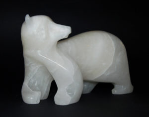 "SOLD ""Noble Spirit,"" by Marilyn Armitage Transluscent white alabaster $750"