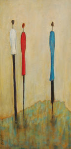 "SOLD ""Of Course You Can,"" by Bev Binfet 12 x 24 – acrylic $685 Unframed"