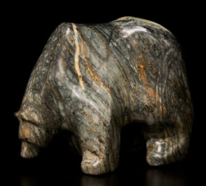 "SOLD ""Old Timer,"" by Marilyn Armitage Brazilian soapstone 10"" (L) x 8"" (H) $900"