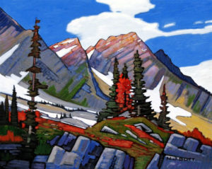 "SOLD ""On Spine Back Trail (Fernie Mountains),"" by Nicholas Bott 16 x 20 – oil $2210 Framed"
