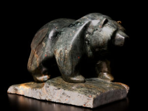 "SOLD ""On the Edge,"" by Marilyn Armitage Braziliant soapstone 12"" (L) x 8"" (H) $950"