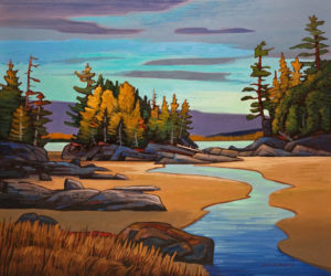 "SOLD ""Outgoing Tide,"" by Nicholas Bott 30 x 36 – oil $4990 Unframed"