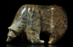"SOLD ""Passing Through,"" by Marilyn Armitage Brazilian soapstone 13"" (L) x 8 1/2"" (H) $1200"