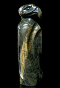 "SOLD ""Perched High,"" by Marilyn Armitage Soapstone 13 1/2"" (H) $650"