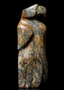 "SOLD ""Regal Glare,"" by Marilyn Armitage Brazilian soapstone 10 3/4"" (H) $675"