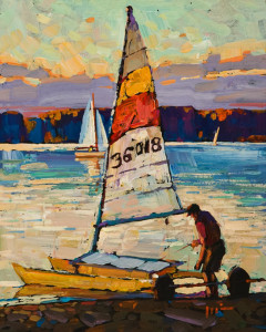 "SOLD ""Sail,"" by Min Ma 8 x 10 – acrylic $770 Unframed"
