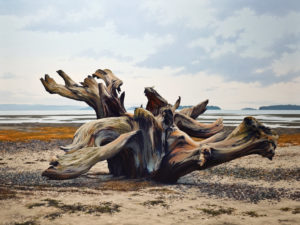 "SOLD ""Sea Sculpture,"" by Merv Brandel 30 x 40 – oil $4580 (thick canvas  wrap without frame)"