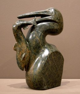 """SOLD """"Small Catch,"""" by Marilyn Armitage Soapstone figure dimensions 10 (H"""