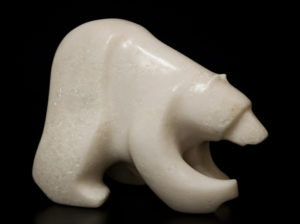 "SOLD ""Snowflake,"" by Marilyn Armitage Soapstone 8"" (L) x 6 1/2"" (H) $525"