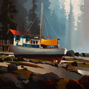 "SOLD ""Soft Light – Lund,"" by Michael O'Toole 30 x 30 – acrylic $3640 Unframed"