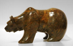 "SOLD ""Solo Journey,"" by Marilyn Armitage Soapstone 6 1/4"" (H) x 11"" (L) $750"