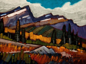 "SOLD ""Spring, Rocky Mountains,"" by Nicholas Bott 6 x 8 – oil $860 Framed $690 Unframed"