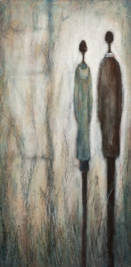 "SOLD ""Turn Left on Elm,"" by Bev Binfet 12 x 24 – acrylic $685 Unframed"