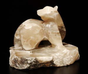 "SOLD ""Twist of Fate,"" by Marilyn Armitage Italian Alabaster 10"" (H) x 13"" (L) $1900"
