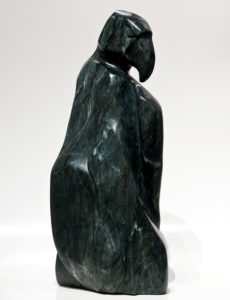 "SOLD ""Wave of Flight,"" by Marilyn Armitage Brazilian soapstone – 21"" (H) $2350"