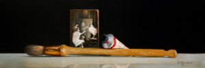 "SOLD ""Which Came First,"" by Mickie Acierno 8 x 24 – oil $1260 Unframed $1510 Custom framed"