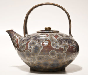 "SOLD Teapot (BB-3376) by Bill Boyd crystalline-glaze ceramic - 9"" (H) $500"