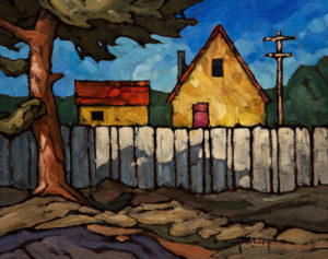 "SOLD ""Another Good Neighbour,"" by Phil Buytendorp 8 x 10 - oil $520 Unframed $700 in show frame"