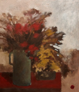 "SOLD ""Autumn Flowers,"" by H. E. Kuckein 12 x 14 - oil $1400 Unframed $1620 in show frame"