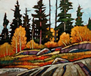 "SOLD ""Blue Lake Area,"" by Nicholas Bott 10 x 12 - oil $1210 Unframed $1410 in show frame"