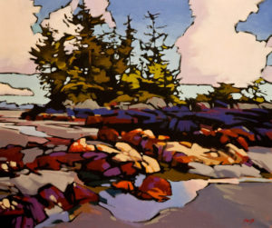 "SOLD ""Chesterman Beach,"" by Mike Svob 20 x 24 - acrylic $3060 in show frame $2650 Unframed"