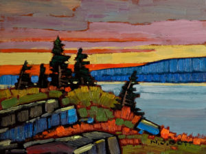 "SOLD ""Coastal Evening,"" by Nicholas Bott 6 x 8 - oil $690 Unframed $825 in show frame"