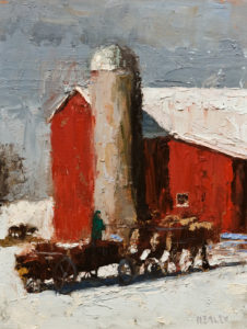 "SOLD ""Coming Home,"" by Paul Healey 12 x 16 – oil $650 Unframed"