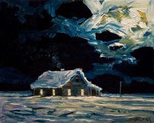 "SOLD ""December Shack,"" by Steve Coffey 8 x 10 - oil $630 Unframed $790 in show frame"