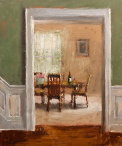 "SOLD ""The Dining Room,"" by Paul Healey 20 x 24 – oil $1450 Unframed"