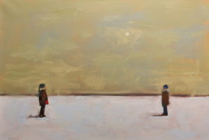 "SOLD ""A Girl and a Boy,"" by Paul Healey 24 x 36 – oil $2250 Unframed"