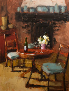 "SOLD ""In the Evening,"" by Paul Healey 30 x 40 – oil $2500 Unframed"